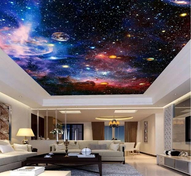 натяжной потолок Звездное небо - фото