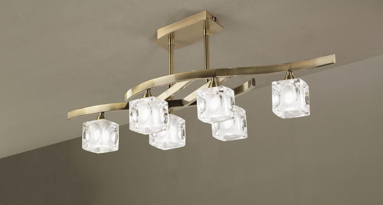 подвесная люстра для натяжных потолков - фото